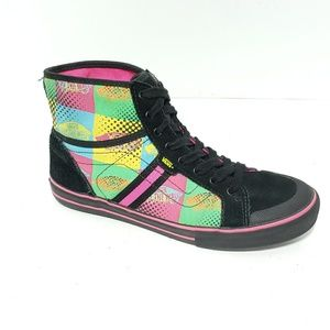 Vans Off The Wall Canvas High Top Sneakers Size 7